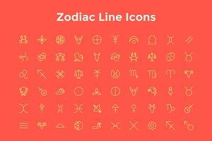 Zodiac Line Icons