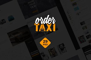 Order a Taxi - Website Design UI