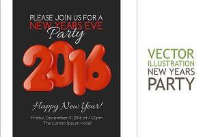 Invitation to New Year party with re