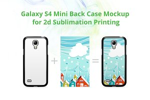 Galaxy S4 Mini 2dCase Back Mock-up