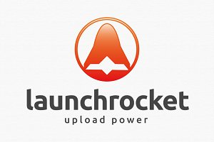 Launch Rocket Logo Template