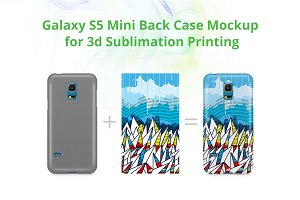 Galaxy S5 Mini 3d Case Back Mock-up