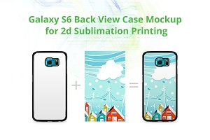 Galaxy S6 2d Case Back Mock-up