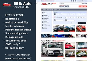 BBS: Auto – Car Selling Template