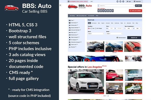 bbs auto car selling template html css themes creative market