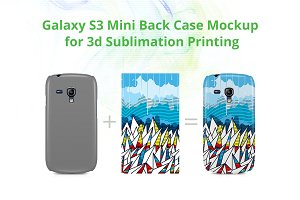Galaxy S3 mini 3d Case Design Mockup