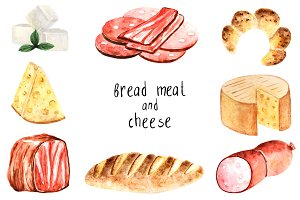 Bread, meat and cheese