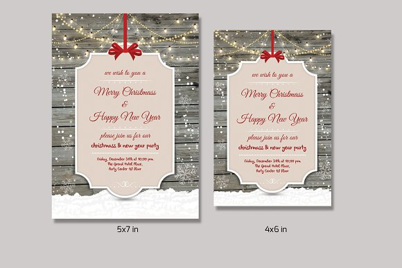 christmas invitation flyer v151 flyers