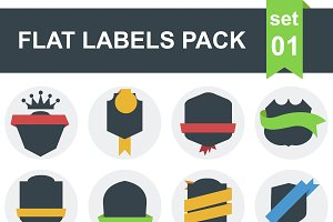 48 Flat labels pack