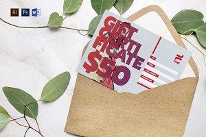 Fashion Designer Gift Certificate Creative Illustrator Templates Creative Market