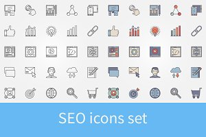 Vector SEO icons set