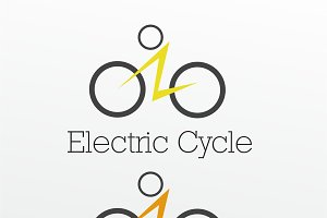 Electric Cycle Logo Template