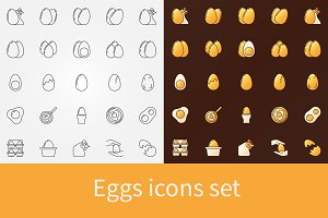 Vector eggs icons set