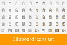 Vector clipboard icons set