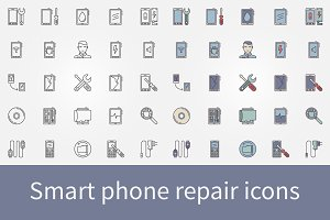 Smart phone repair icons