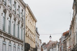 Streets of Lille in France