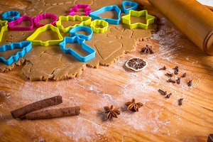 Christmas gingerbread dough