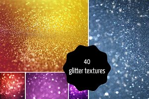 40 colorful glitter textures