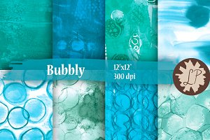 Bubbles Painted Papers