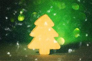 Decorative christmas tree figure
