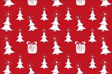 Christmas seamless pattern. Vector.