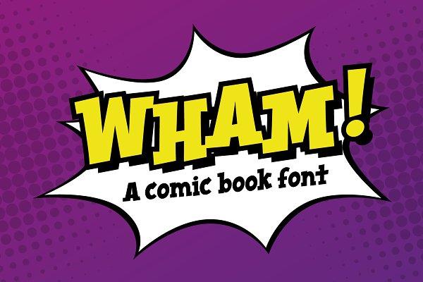 Whoosh Comic Book Cartoon Font Stunning Display Fonts Creative Market