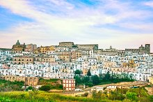 Ferrandina old town panorama. Apulia