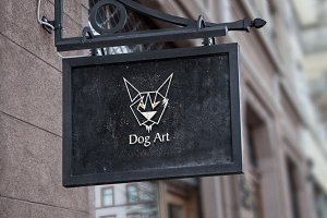 Dog Art Logo Template