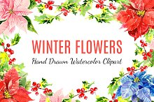 Winter Watercolor Flowers