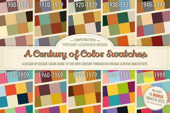a century of color swatches bonus color palettes creative market