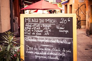 French menu