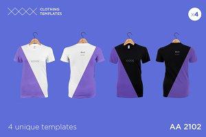 AA 2101 - Womens blank t-shirt set