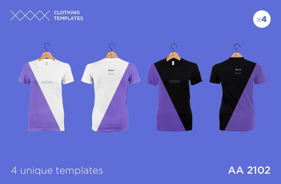 aa 2101 womens blank t shirt set product mockups creative market