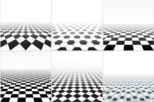 Abstract backgrounds, tiled floor.