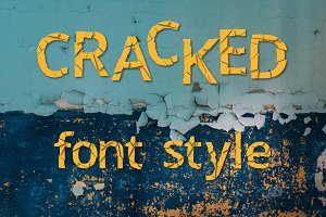 Cracked font style