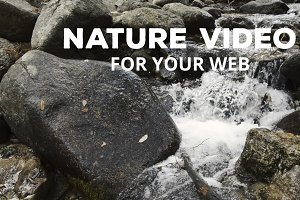 Mountain water stream footage