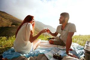Romantic couple enjoying a day