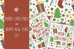 Merry Christmas and New Year set