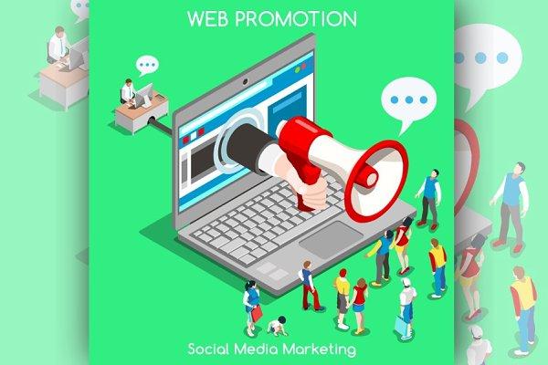 Marketing Concept Isometric