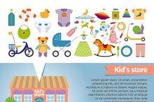Kids shop. Childrens clothing.