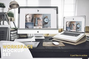 Workspace Mockup Set 4
