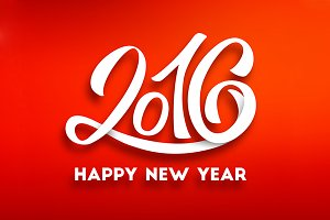 Happy New Year 2016 Vector Banners