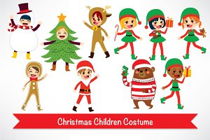 Children Christmas Costume