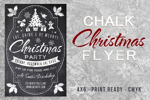 Chalk Christmas Flyer