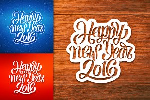 Happy New Year banners set