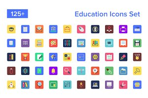 125+ Education Icons Set
