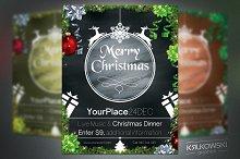 Christmas Chalkboard Flyer Template