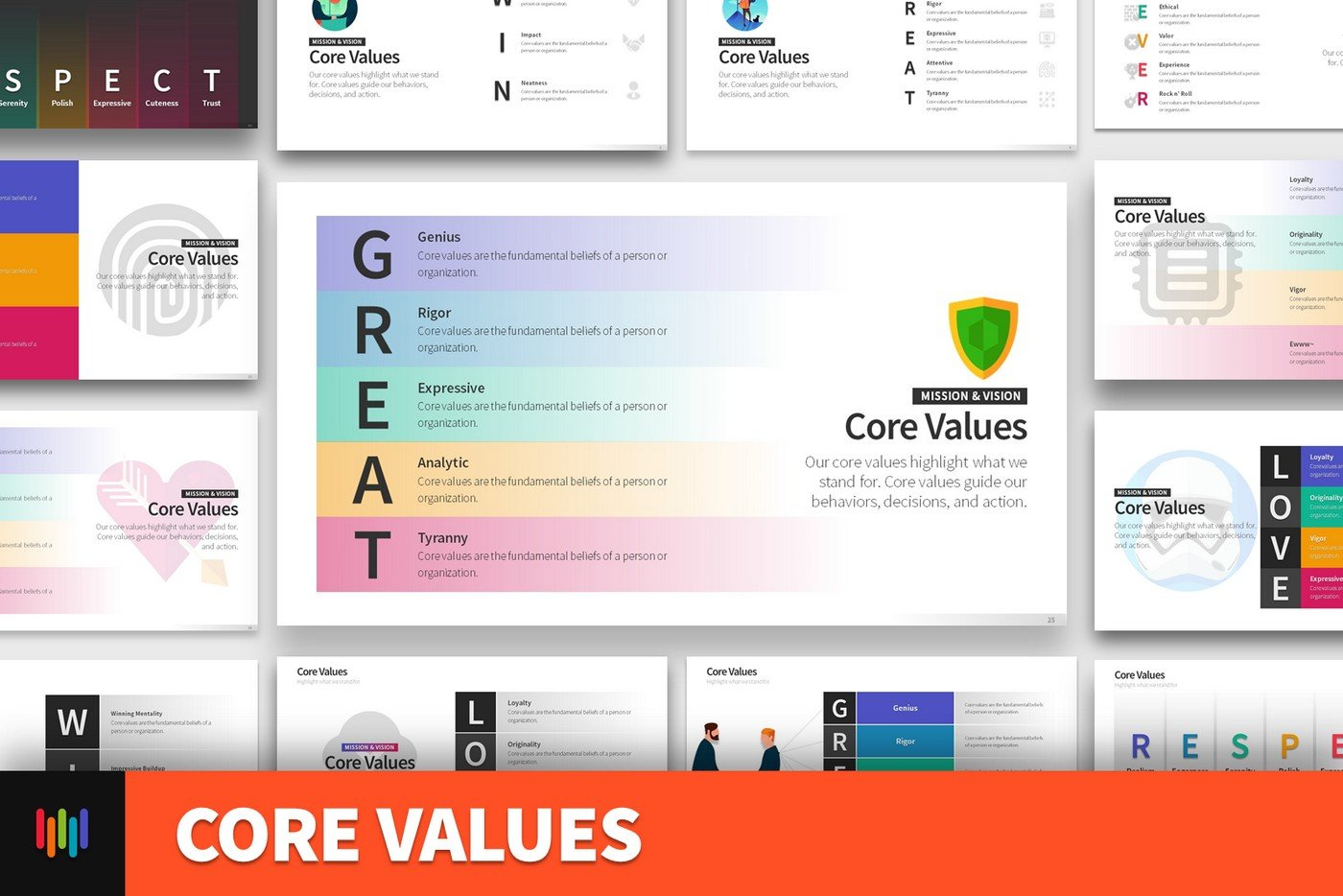 Core Values Powerpoint Templates Creative Market