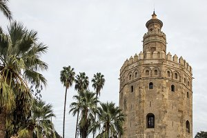 Gold Tower in Seville Andalucia Spai