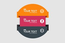 Round Colorful Infographics. Vector